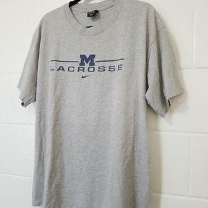 Vtg Nike Lacrosse Mens T Shirt Michigan Wolverines